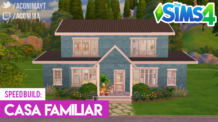 Sims 4 casa familiar azul aconima gamer en espa ol for Sims 4 piani di casa