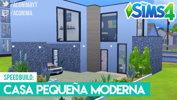 Sims 4 Casa Moderna Peque A Aconima Gamer En Espa Ol
