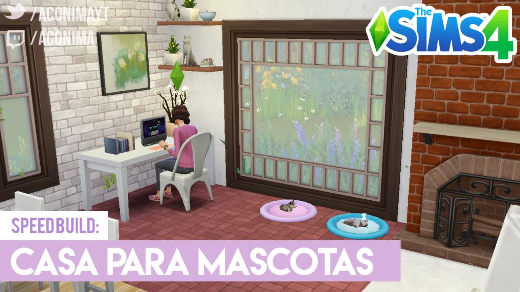 Casa de Soltera con Mascotas en Los Sims 4