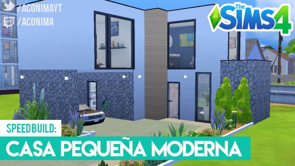 Casa Moderna Pequeña en Los Sims 4