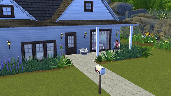 Fachada casa mascotas Sims 4