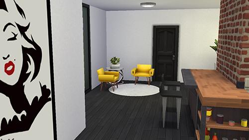 Sala de Casa Moderna en Los Sims 4