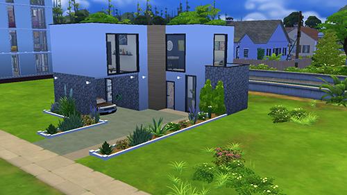 Fachada de Casa Moderna Sims 4